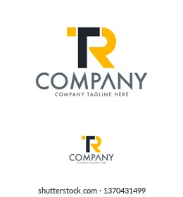 Letter TR, T R logo template