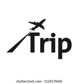 letter TRIP word vector logo
