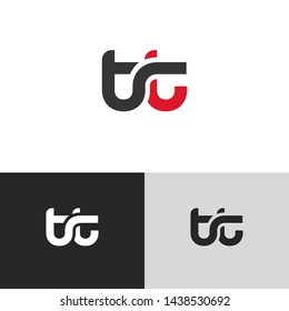 Letter tt linked lowercase logo design template elements. Red letter Isolated on black white grey background. Suitable for business, consulting group company.