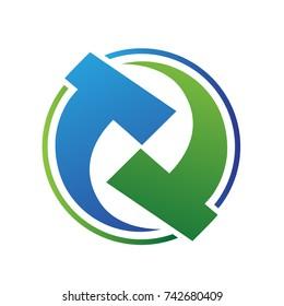 letter TT logo icon template