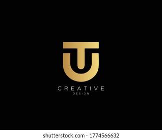 Letter TU UT Logo Design , Creative Minimal TU UT Monogram