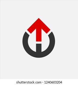 Letter TW Arrow