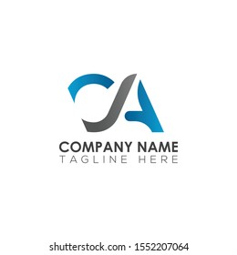 letter type ca logo design for your business. simple Letter ca logo.