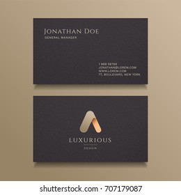 A Letter typography Alphabet logo luxury business card design template