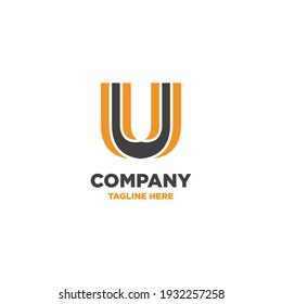 Letter U logo, company logo, dynamic, minimalism,  simple logo template, alphabet letters, for companies  and individuals, business promotion and advertising