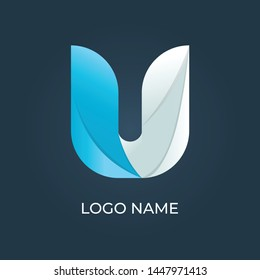 "Letter ""U"" logo isolated. Alphabet vector image"