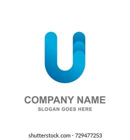 Letter U Logo Vector Icon
