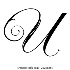 Letter U - Script