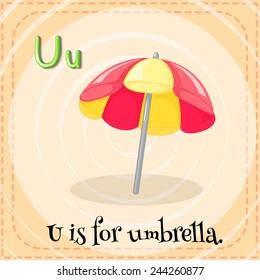 A letter U for umbrella
