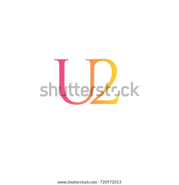 Letter U2 Element Logo Stock Vector (Royalty Free) 720972013
