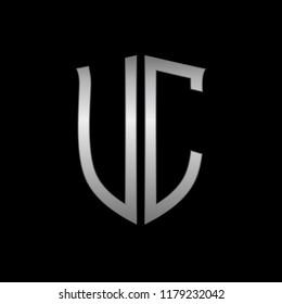 Letter UC initial logo design vector