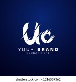 Letter UC Logo. Initial Letter Design Vector Luxury Colors