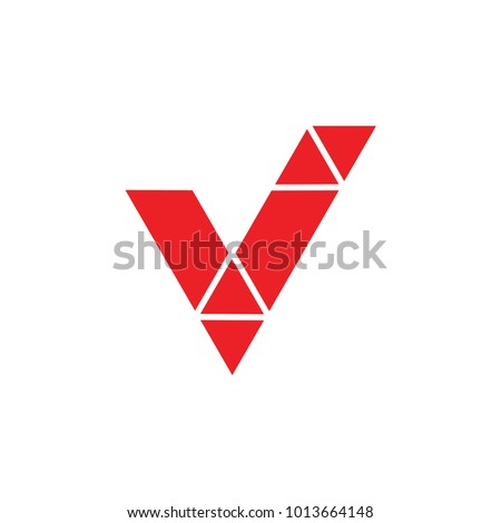 letter v check mark