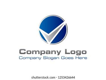 Letter V or Checkmark Logo Icon Design Template