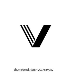 Letter V . Creative Minimal luxury emblem design. Universal elegant icon. Premium business finance logotype. Graphic Alphabet Symbol for Corporate Business Identity. Vector element