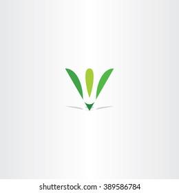 letter v green leaf eco logo v icon vector logotype brand