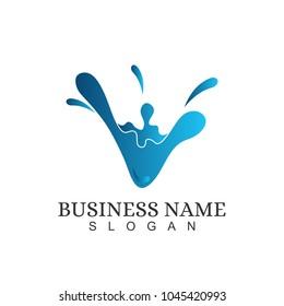 Letter V Initial Logo Template Design