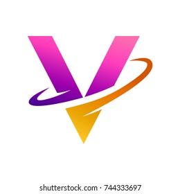 Letter V Initial Logo Template