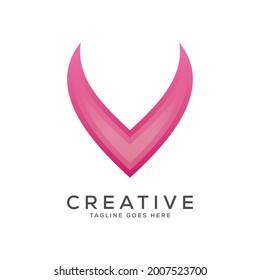 Letter V Logo Design Modern V Stock Vector