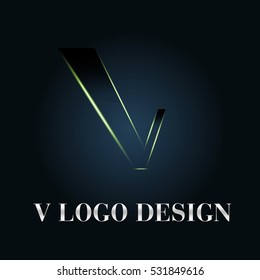 Letter V Logo icon Design. Vector illustration.
