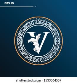 Letter V logo Vintage . Letter V minimalis. Letter V logo Designs. Letter V Retro