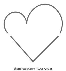 Letter V plus number 3 logo heart