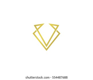 Letter V Royal Logo Design Element