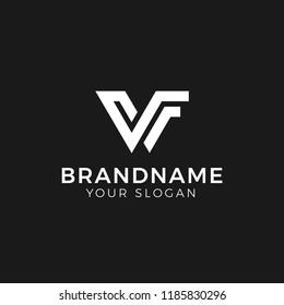 Letter V, VF logo design