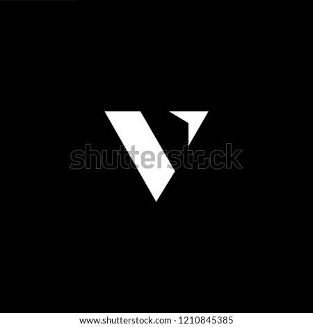Letter V Vv Minimalist Art Monogram Stock Vector Royalty Free