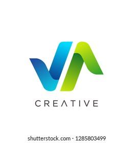Letter VA Logo, Letter AV Logo, Modern V Logo