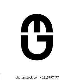 eg letter vector logo. ge letter vector logo