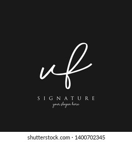 Letter VF Signature Logo Template - Vector