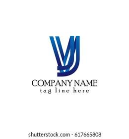 letter VJ 3d linked logo