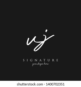 Letter VJ Signature Logo Template - Vector