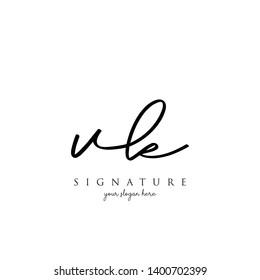 Letter VK Signature Logo Template - Vector