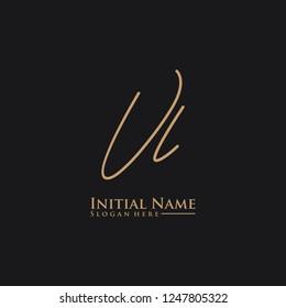 Letter Vl Logo. Initial Letter Design Vector Luxury Colors