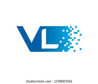 Letter VL Template Design Vector, Emblem, Concept Design, Creative Symbol, Icon