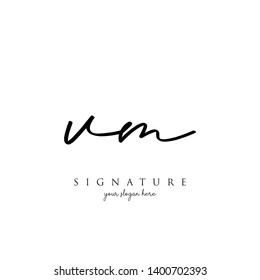 Letter VM Signature Logo Template - Vector