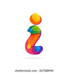 I letter volume logo, vector design template elements