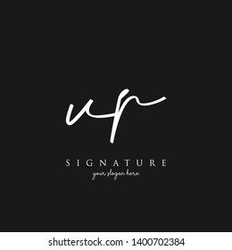 Letter VP Signature Logo Template - Vector