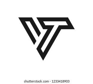 letter vt logo designs