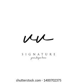 Letter VV Signature Logo Template - Vector
