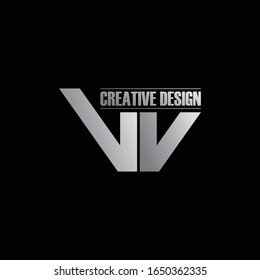 Letter VV simple logo icon design vector