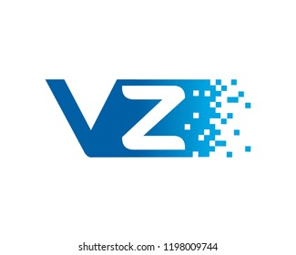 Letter VZ Template Design Vector, Emblem, Concept Design, Creative Symbol, Icon