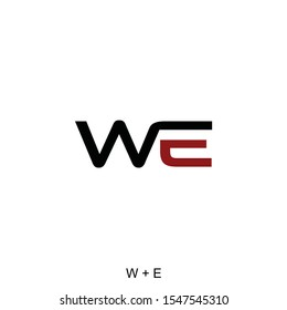 letter W and E concepts for logo or initial ready to use