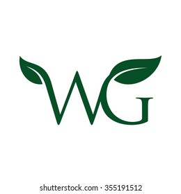 letter w and g logo
