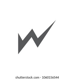 letter w geometric sharp shape design logo vector