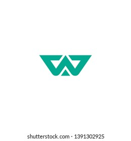 letter W icon logo design concept