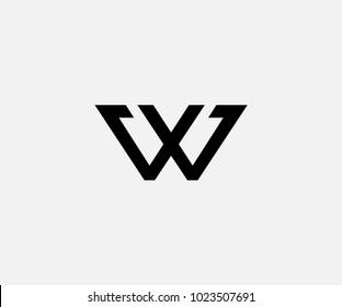 letter W logo abstract. logo VV Vector alphabet