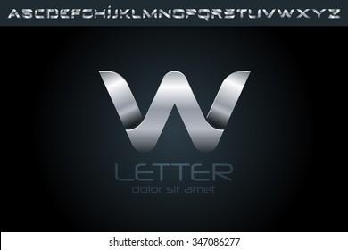 Letter W Logo, alphabet logo design.